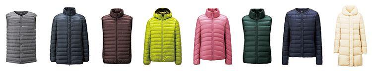 4. UNIQLO ultra light down jackets.