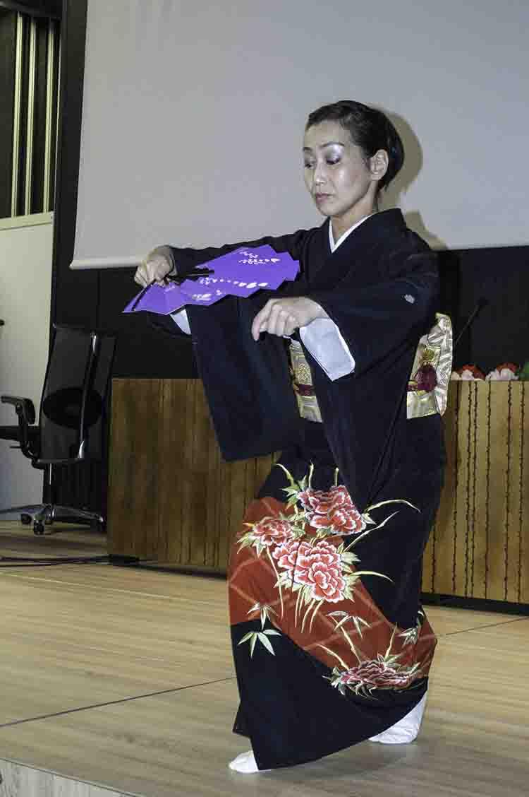 Fujima Seiza en su actuación