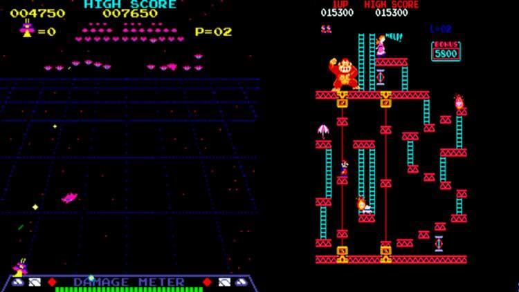 Radar Scope (izquierda) y Donkey Kong (derecha).
