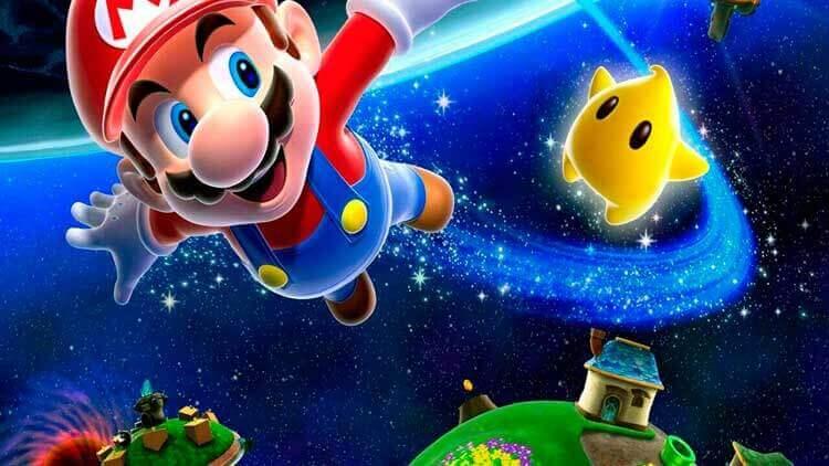 Ilustración oficial de Super Mario Galaxy (Nintendo Wii, 2007)