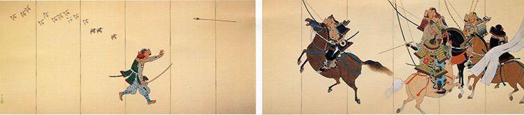 Una escena de «Heike Monogatari».