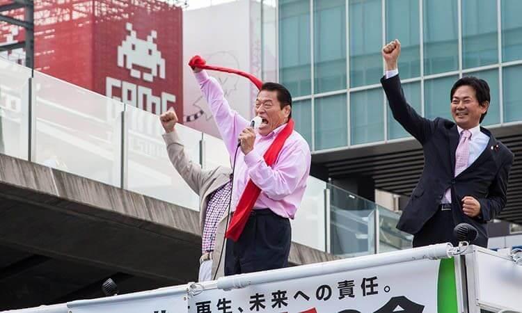 Antonio Inoki en un evento en Akihabara