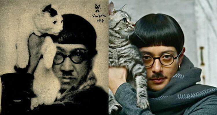 A la izquierda el artista Leonard Foujita, y a la derecha el actor Joe Odagiri.