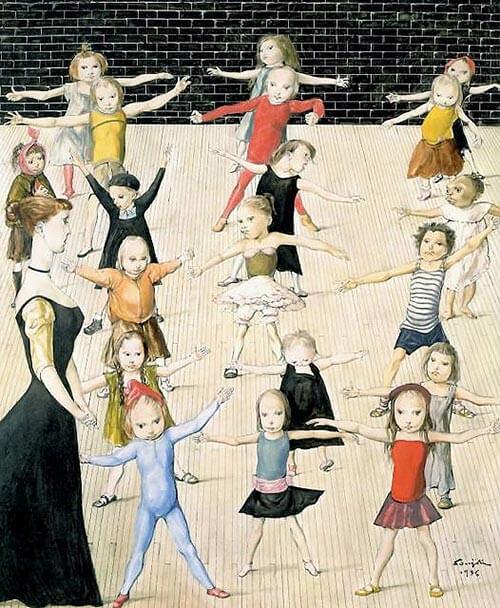 Léonard Foujita - Schoolyard (1956)