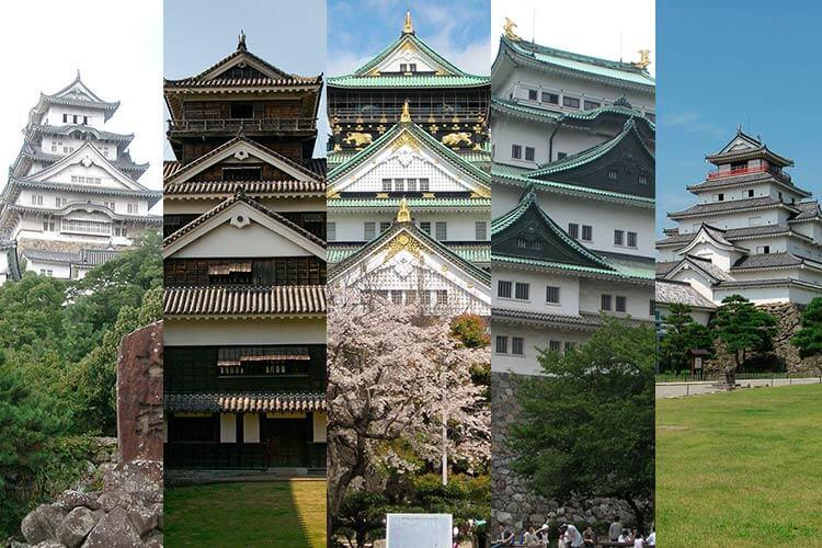 Japón en el anime - Los cinco castillos japoneses representados en Scramble for the throne.