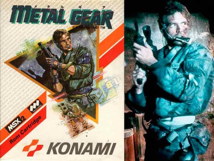 A la izquierda, carátula del Metal Gear original (1987) para MSX2, y a su derecha, Michael Biehn como Kyle Reese en The Terminator (1984, James Cameron). Como comprobaremos, los tributos de Hideo Kojima y su equipo al cine, serán constantes.