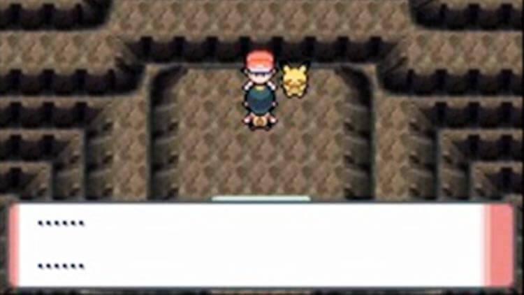 El momento en que Gold (Oro, protagonista de Oro y Plata) se encuentra cara a cara con Red, protagonista de la primera entrega de Pokémon, en SoulSilver y HeartGold. Remake de Oro y Plata de 2009).