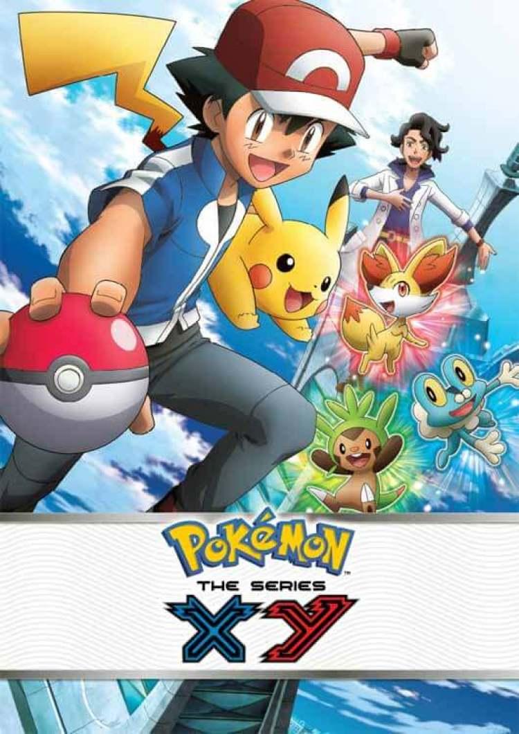 Cartel promocional de la serie de animación de Pokémon X e Y, una de los últimos proyectos donde colaboró Medalle.