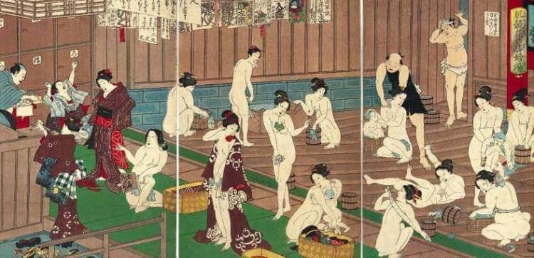 Ukiyo-e de un onsen
