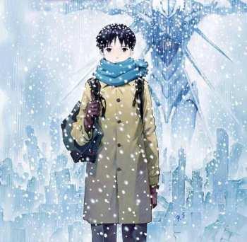 Portada de Yoshiyuki Sadamoto para el tomo final del manga de Evangelion.