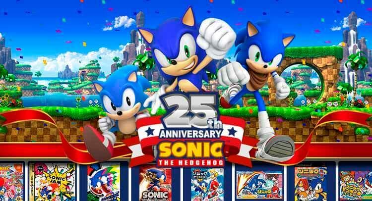 Imagen promocional del 25 aniversario de Sonic.