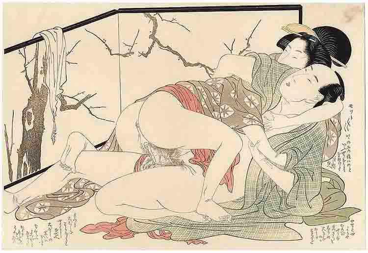Utamaro, ilustración de temática erótica