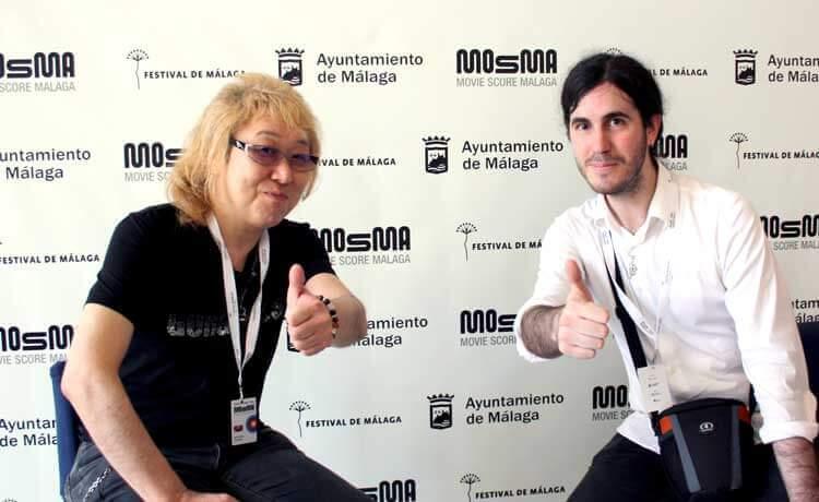 Kenji Kawai con nuestro compañero, el redactor Andrés Domenech Alcaide.