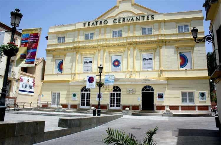 El teatro Cervantes de Málaga. Lugar donde tuvo lugar la gala de clausura del Festival MOSMA, y donde conocimos y entrevistamos al señor Kawai.