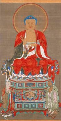 Ito Jakuchu, Trinidad de Shakyamuni