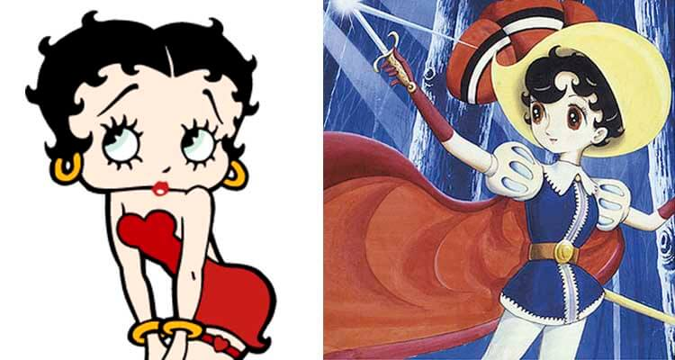 princesa caballero y betty boop