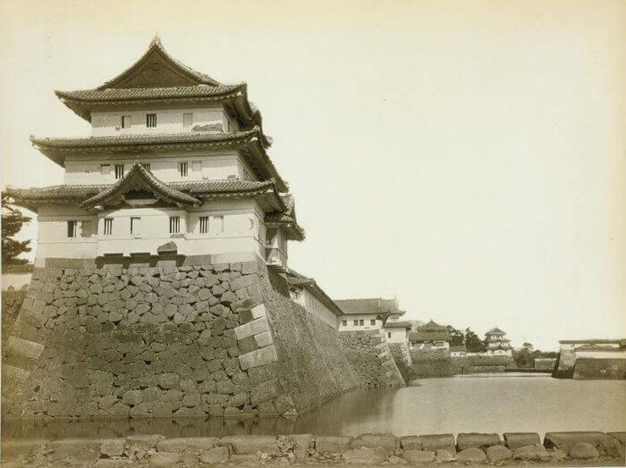 Foso interno del castillo de Edo, antes de 1870