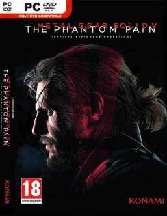 Carátula oficial de la versión internacional del videojuego Metal Gear Solid V - The Phantom Pain