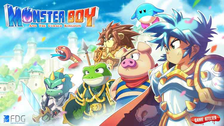 Arte promocional de Monster Boy and the Cursed Kingdom (2017)