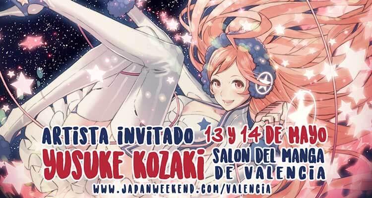 Promo del evento con una ilustración de Yusuke Kozaki