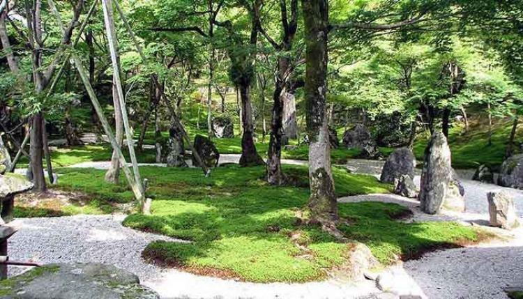 Jardín Zen en el templo de Komyozenji