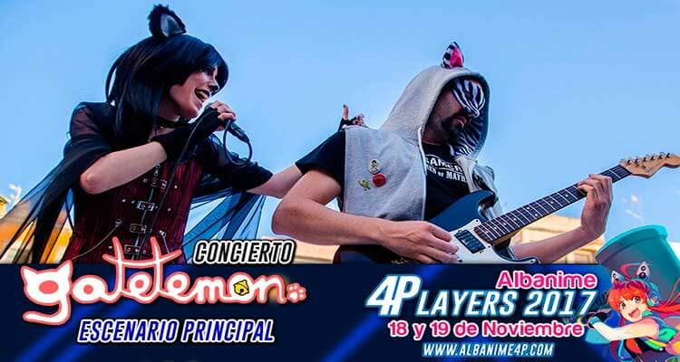 Concierto Gatetemon Albanime 4Players