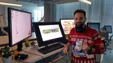 Javier García y Sonic nos desearon una Feliz Navidad desde las oficinas de Capcom Vancouver, durante estas pasadas fiestas.