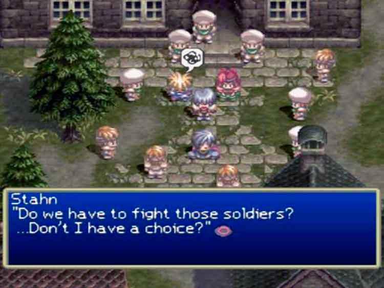 Captura de pantalla de Tales of Destiny, en su versión Norteamericana.