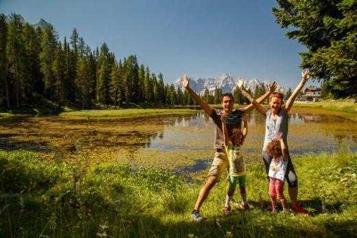 Family in Dolomiti