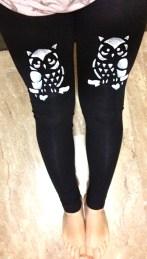 black leggings with heart