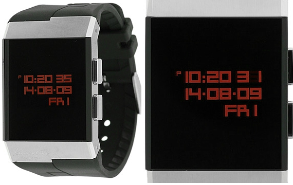 Kenneth Cole Rubber Strap Digital Watch  Cool Material