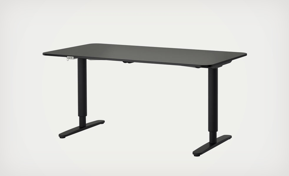 The Ikea BEKANT SitStand Desk Adjusts with the Press of a