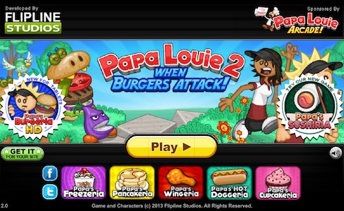 Papa Louie 2 - Cool Math Games 4 Kids