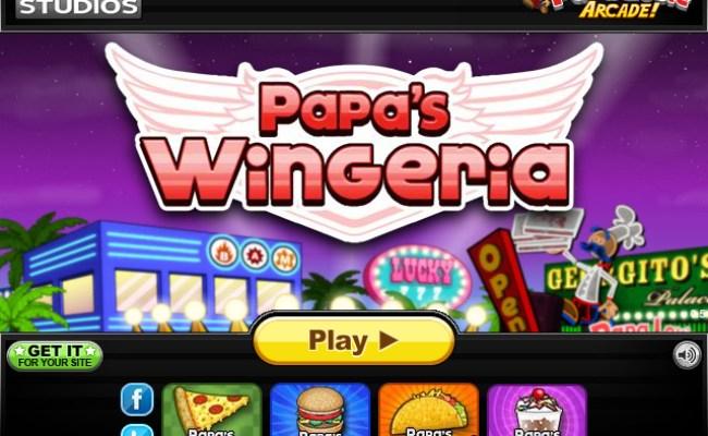 Papa S Wingeria Play Online At Coolmathgameskids