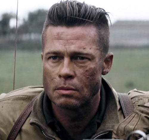 How to Get Brad Pitts Fury Hairstyle  Many More  Cool Mens Hair