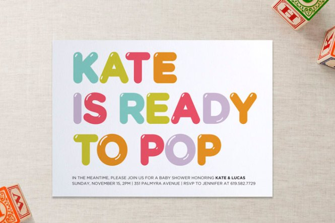 Cool Baby Shower Invitations She S Gonna Pop Minted Mom Picks