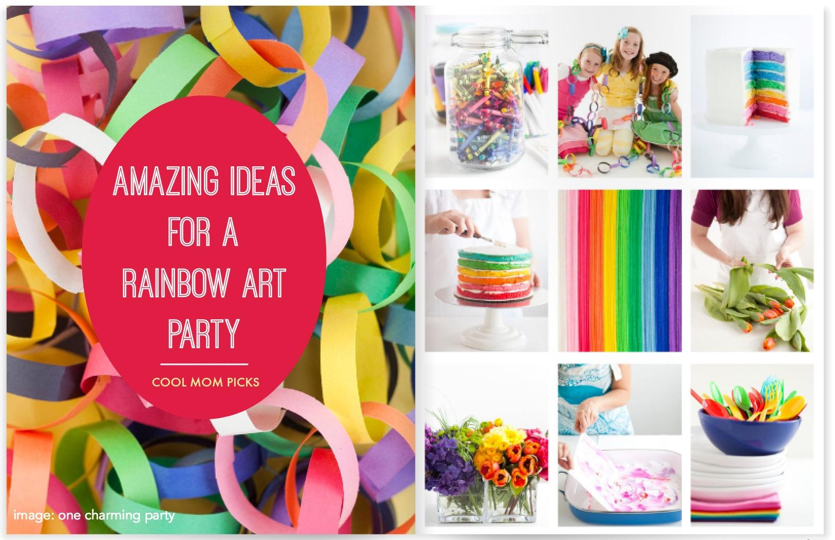 how to throw a rainbow art party ideas