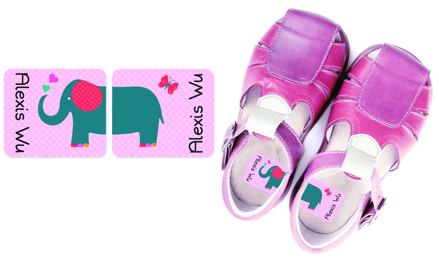 Personalized Preschool Shoe Labels That Help Tell Right