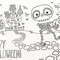 9 fun free printable Halloween coloring pages to help keep little fingers out of the candy stash
