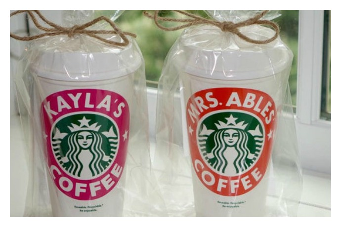 Personalized Starbucks Coffee Cup What A Teachers Gift