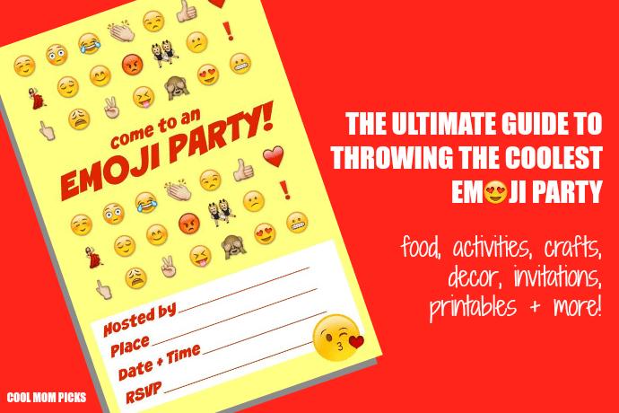 emoji party idea guide snacks crafts