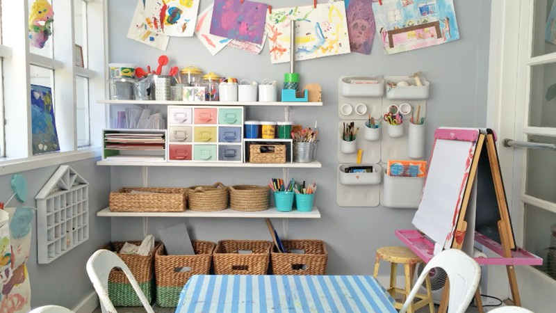 7 expert tips for creating an organized crafts space for kids