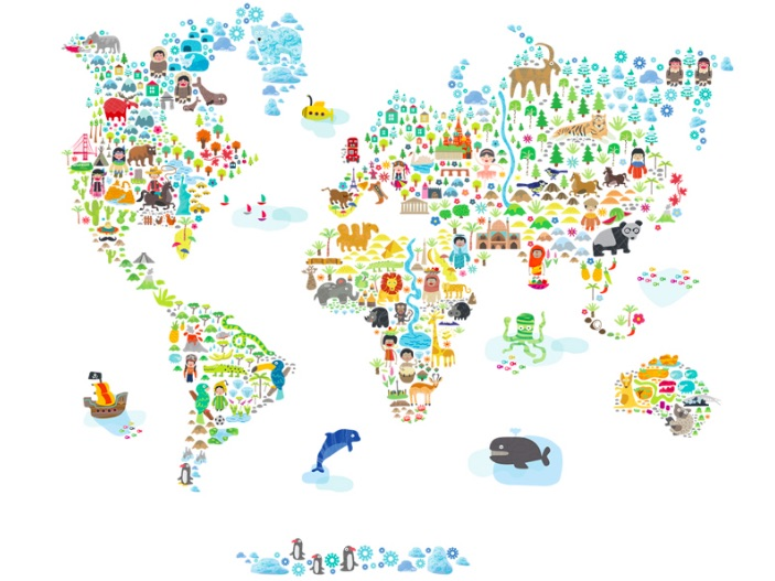 3 Cool World Map Decals To Get Kids Excited About Geography