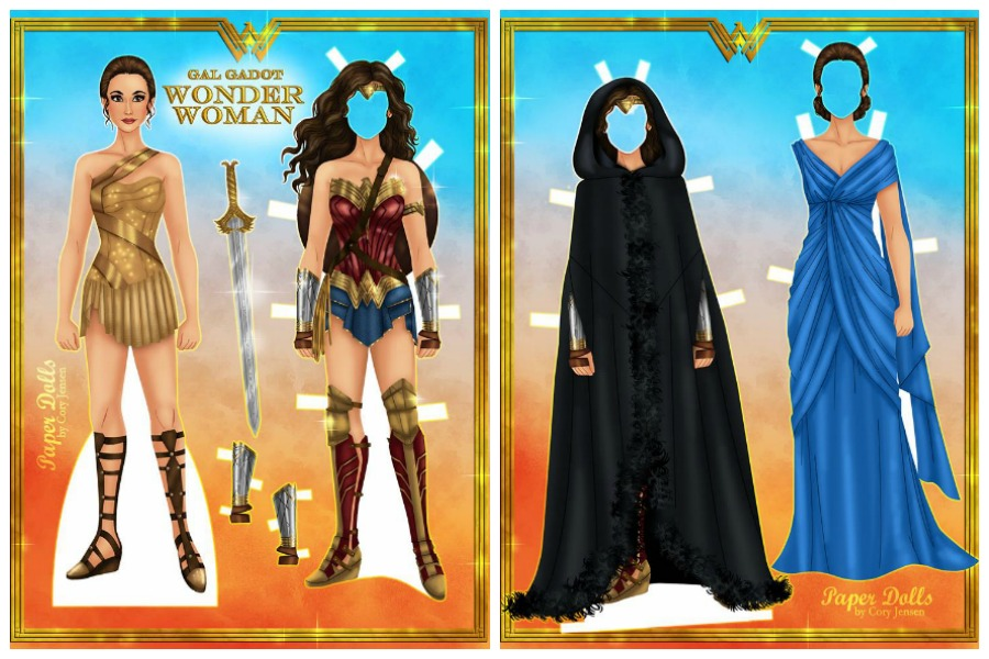 7 Free Printable Modern Paper Dolls From Wonder Woman To