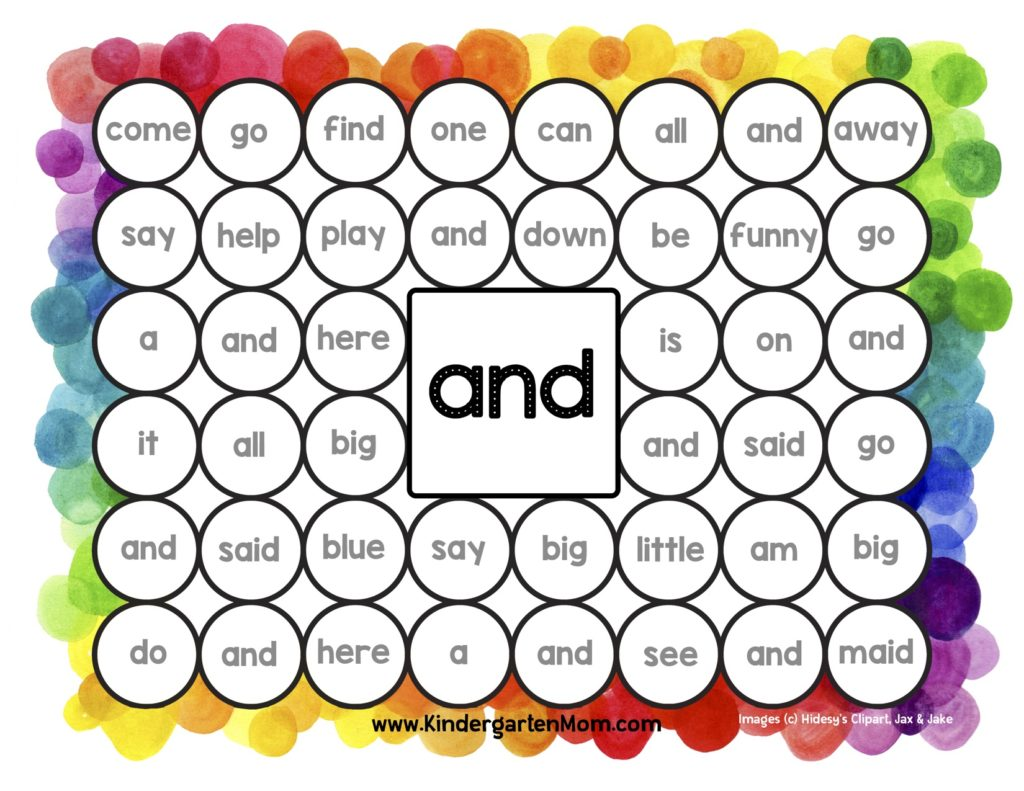 Free Printables For Kindergarten Sight Word Help 12 Ways