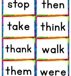 Free printables for kindergarten: Sight word help [ 1024 x 790 Pixel ]