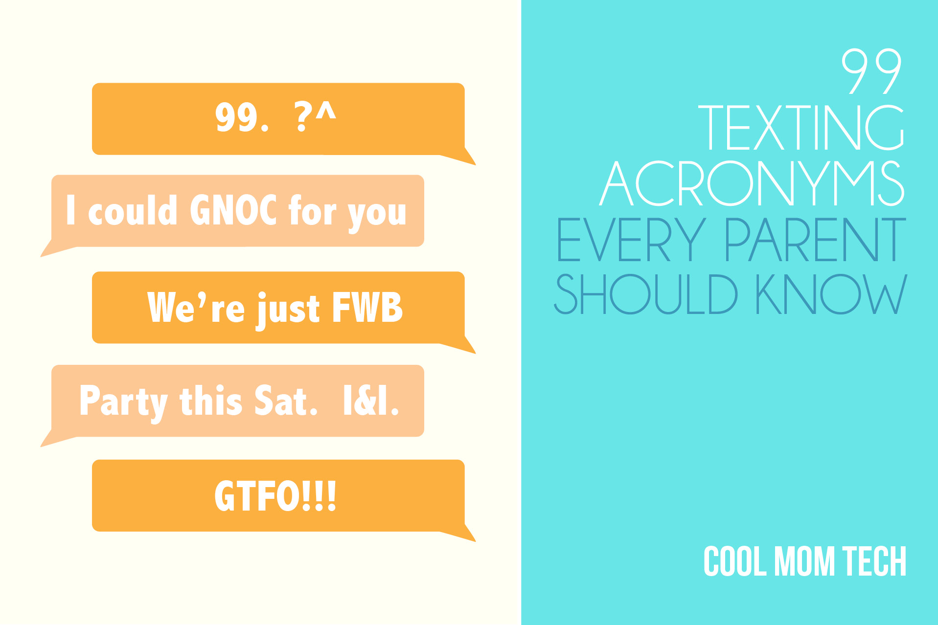 99 Texting Acronyms And Phrases Every Parent Should Know