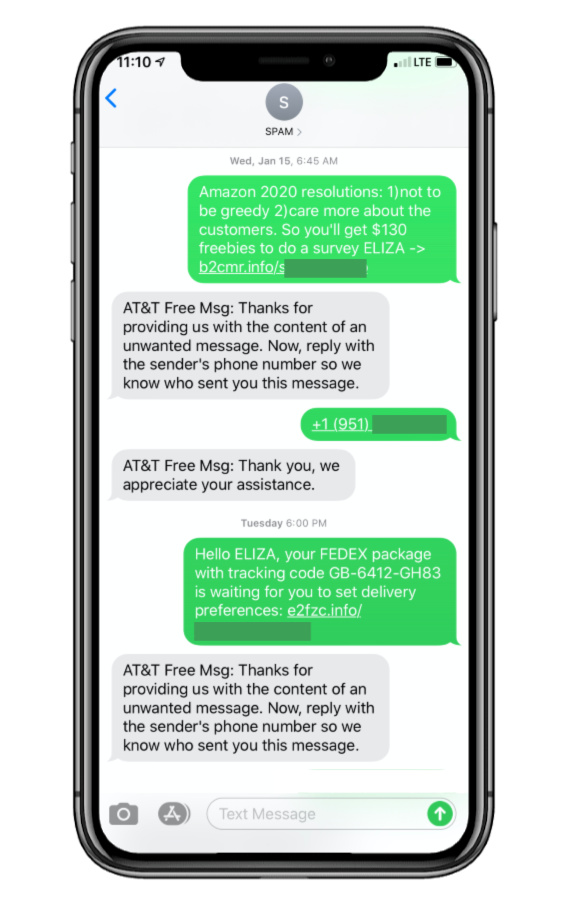 How To Spam A Phone Number With Texts : phone, number, texts, Report, Texts, Phishing, Phone, Provider.