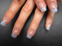 Silver Glitter Tip Nails - Nail Art Design From CoolNailsArt