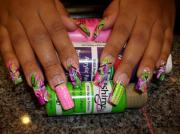 crazy acrylic nail design